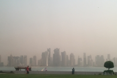 Doha from afar.