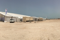 The tent-venue in the middle of the desert of Ras Laffan Industrial City